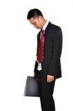 Hombre de negocios de la preocupación aislado Imagen de archivo libre de regalías