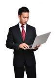 Hombre de negocios de la preocupación aislado Fotografía de archivo libre de regalías