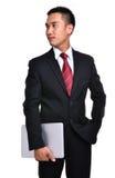 Hombre de negocios de la preocupación aislado Imagen de archivo