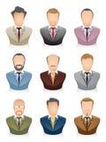 Hombre de negocios de los iconos de la gente Imagen de archivo
