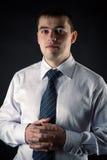 Hombre de negocios de los jóvenes del retrato Fotografía de archivo libre de regalías
