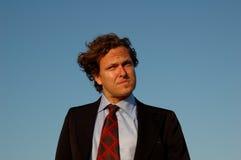 Hombre de negocios de pensamiento imagen de archivo libre de regalías