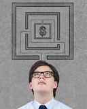 Hombre de negocios de pensamiento Fotos de archivo