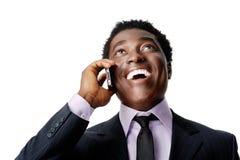 Hombre de negocios de risa imágenes de archivo libres de regalías