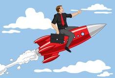 Hombre de negocios de Rocket Imagen de archivo
