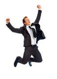 Hombre de negocios de salto Imagenes de archivo
