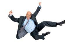 Hombre de negocios de salto foto de archivo
