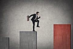 Hombre de negocios de salto Imagen de archivo libre de regalías