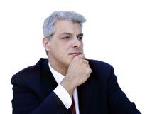 Hombre de negocios de Thinkful Imágenes de archivo libres de regalías