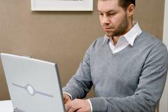 Hombre de negocios de trabajo Imagen de archivo libre de regalías