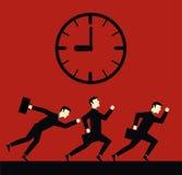 Hombre de negocios Deadline Time Fotos de archivo