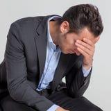 Hombre de negocios decepcionado Imagen de archivo libre de regalías