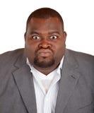 Hombre de negocios del afroamericano enojado sobre algo Imágenes de archivo libres de regalías