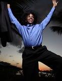 Hombre de negocios del baile Imágenes de archivo libres de regalías