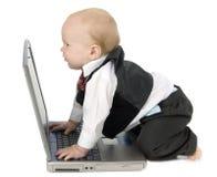 Hombre de negocios del bebé imagen de archivo