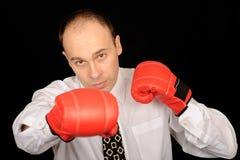 Hombre de negocios del boxeo Imagen de archivo