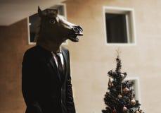 Hombre de negocios del caballo Fotografía de archivo