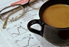 Hombre de negocios del café de la mañana Imágenes de archivo libres de regalías