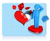 Hombre de negocios del corazón quebrado Imagen de archivo