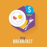 Hombre de negocios del desayuno del icono libre illustration