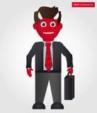 Hombre de negocios del diablo Fotografía de archivo