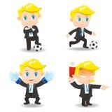 Hombre de negocios del ejemplo de la historieta competitivo stock de ilustración