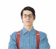 Hombre de negocios del empollón Foto de archivo libre de regalías