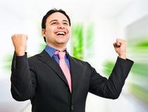 Hombre de negocios del ganador Imágenes de archivo libres de regalías