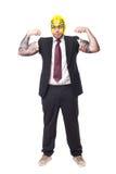 Hombre de negocios del luchador fotografía de archivo