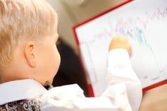 Hombre de negocios del niño imagen de archivo libre de regalías