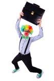 Hombre de negocios del payaso Imagen de archivo libre de regalías