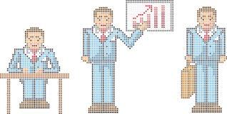 Hombre de negocios del pixel libre illustration