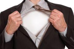 Hombre de negocios del super héroe Fotos de archivo