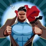 Hombre de negocios del super héroe Imagen de archivo libre de regalías