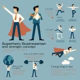 Hombre de negocios del super héroe Foto de archivo libre de regalías