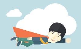Hombre de negocios del super héroe libre illustration