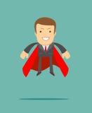Hombre de negocios del super héroe el concepto de éxito Foto de archivo libre de regalías