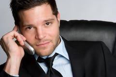 Hombre de negocios del teléfono celular Imagen de archivo libre de regalías