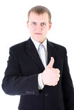 Hombre de negocios del Thumbs-up Imagen de archivo libre de regalías