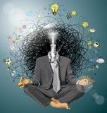 Hombre de negocios del vector en Lotus Pose Meditating libre illustration