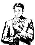 Hombre de negocios del vector en traje Imagen de archivo