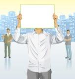 Hombre de negocios del vector y siluetas de hombres de negocios ilustración del vector