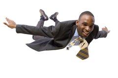 Hombre de negocios del vuelo Fotos de archivo