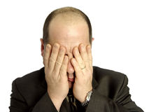 Hombre de negocios deprimido Fotos de archivo libres de regalías