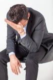Hombre de negocios deprimido Fotografía de archivo