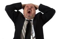 Hombre de negocios deprimido imágenes de archivo libres de regalías