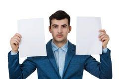 Hombre de negocios deprimido imagen de archivo