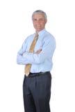 Hombre de negocios derecho con los brazos cruzados Fotografía de archivo