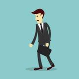 Hombre de negocios desalientador, fall de sensación Imagenes de archivo