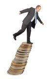 Hombre de negocios desequilibrado Imagen de archivo